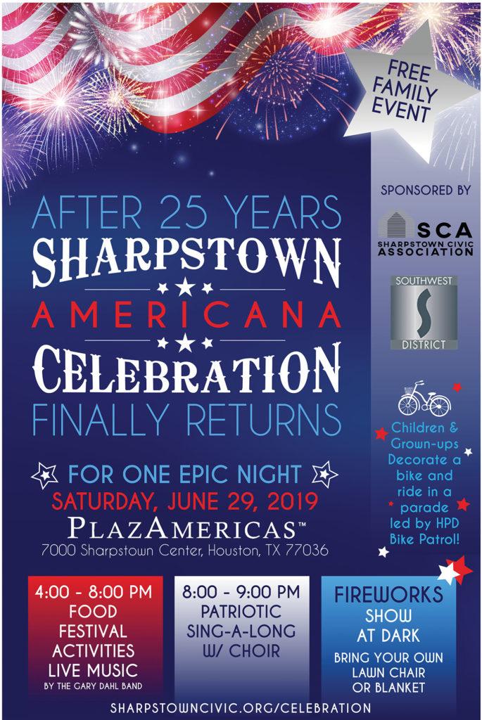 sharpstown americana celebration