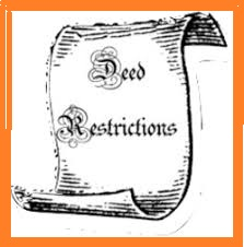 Deed Restrictions Scroll with Border