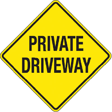 Private Driveway Yellow